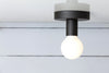 Black Iron Ceiling Light Bare Bulb