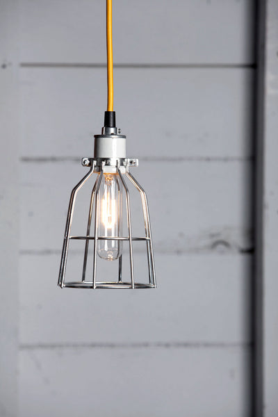 Cage Light Pendant - Metal Cage Lamp - Industrial Light Electric - 1