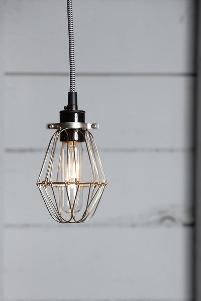 Vintage Wire Cage Pendant Light - Industrial Light Electric - 1