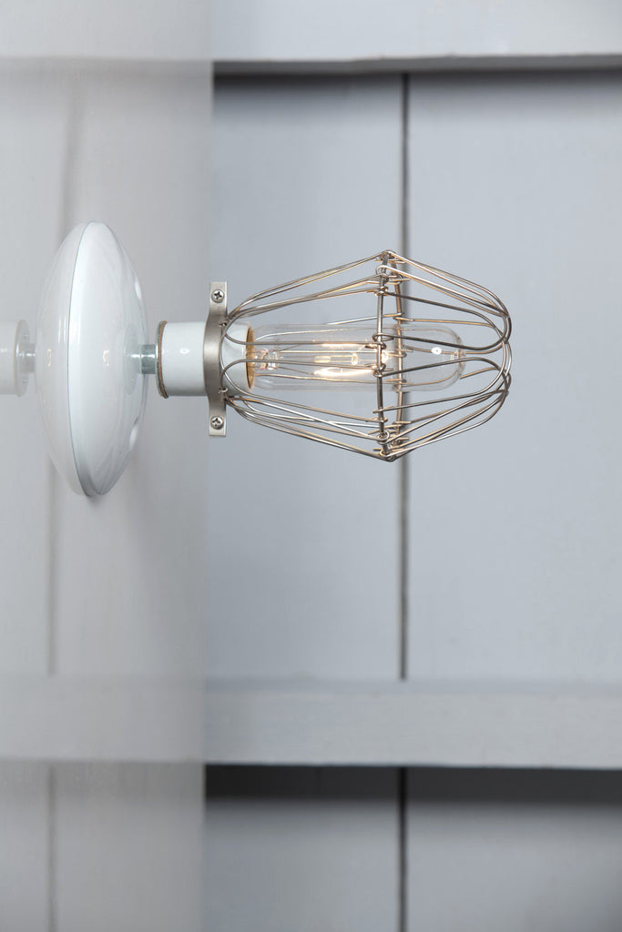 Cage Sconce Wall Light - Vintage Cage Lamp - Industrial Light Electric - 1