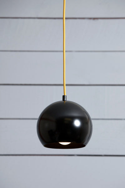 Eye Ball Pendant Light - Black Mid Century Lamp - Industrial Light Electric - 1