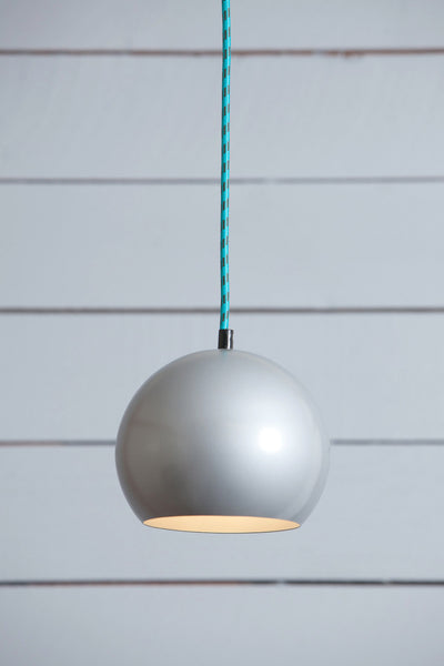Eye Ball Pendant Light - Mid Century Pendant - Gray - Industrial Light Electric - 1