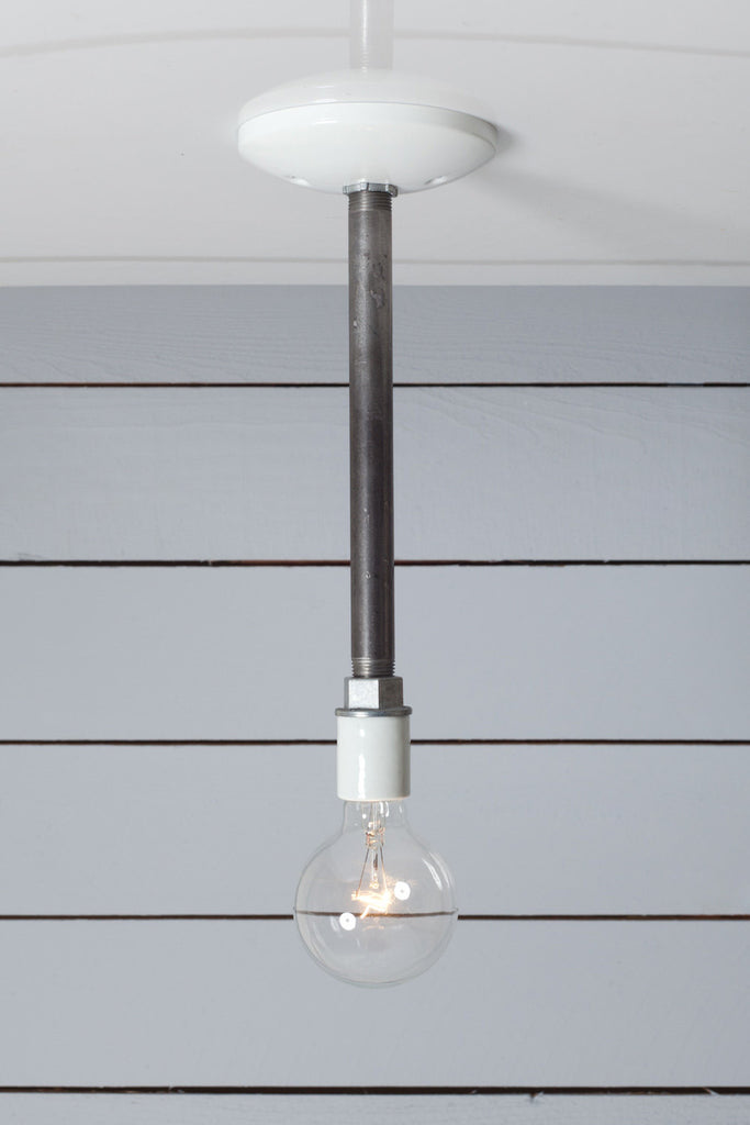 Industrial Pipe Pendant Light - Bare Bulb