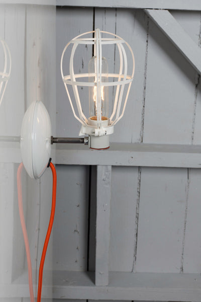Industrial Wall Mount Sconce - Plug In - Modern Cage Light - Industrial Light Electric - 1