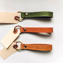 Load image into Gallery viewer, Custom Leather Stamped Keychain