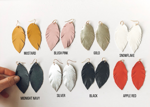 Leather Earrings :: short