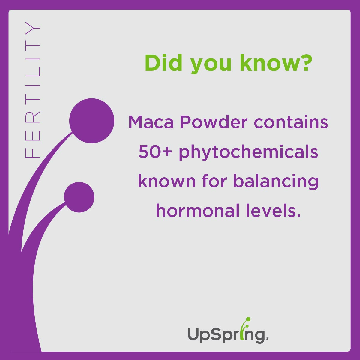 fertility plus maca powder upspring