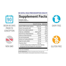 HeNatal Male Preconception Supplement Facts