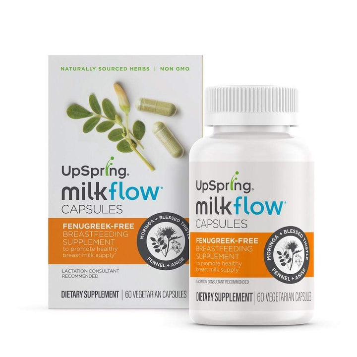 Milkflow Fenugreek-Free Breastfeeding Supplement Capsules