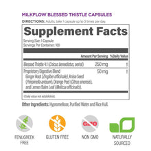 Milkflow Blessed Thistle Capsules Supplement Facts