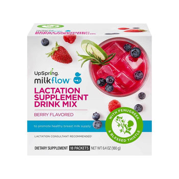 Milkflow Berry Breastfeeding Supplement Drink 18 Packets
