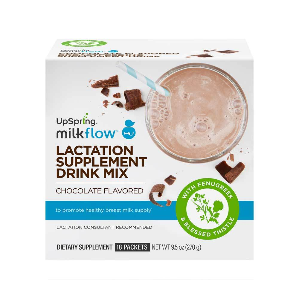 UpSpring Milkflow Chocolate Flavored Breastfeeding Supplement Drink