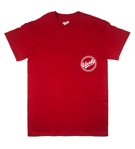 UNRLY POCKET T SHIRT - RED - UNRLY