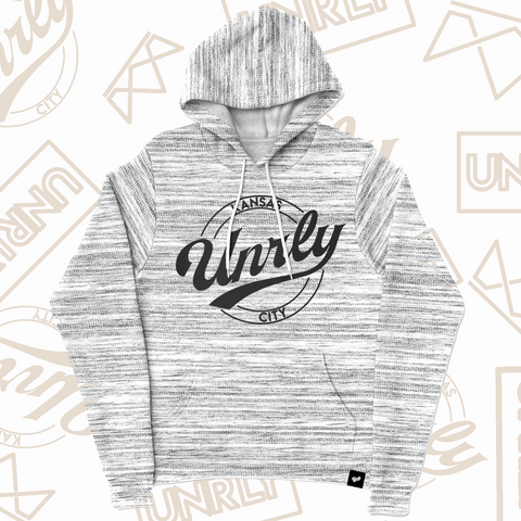 SIGNATURE HOODIE - LIGHT GREY MARBLE - UNRLY
