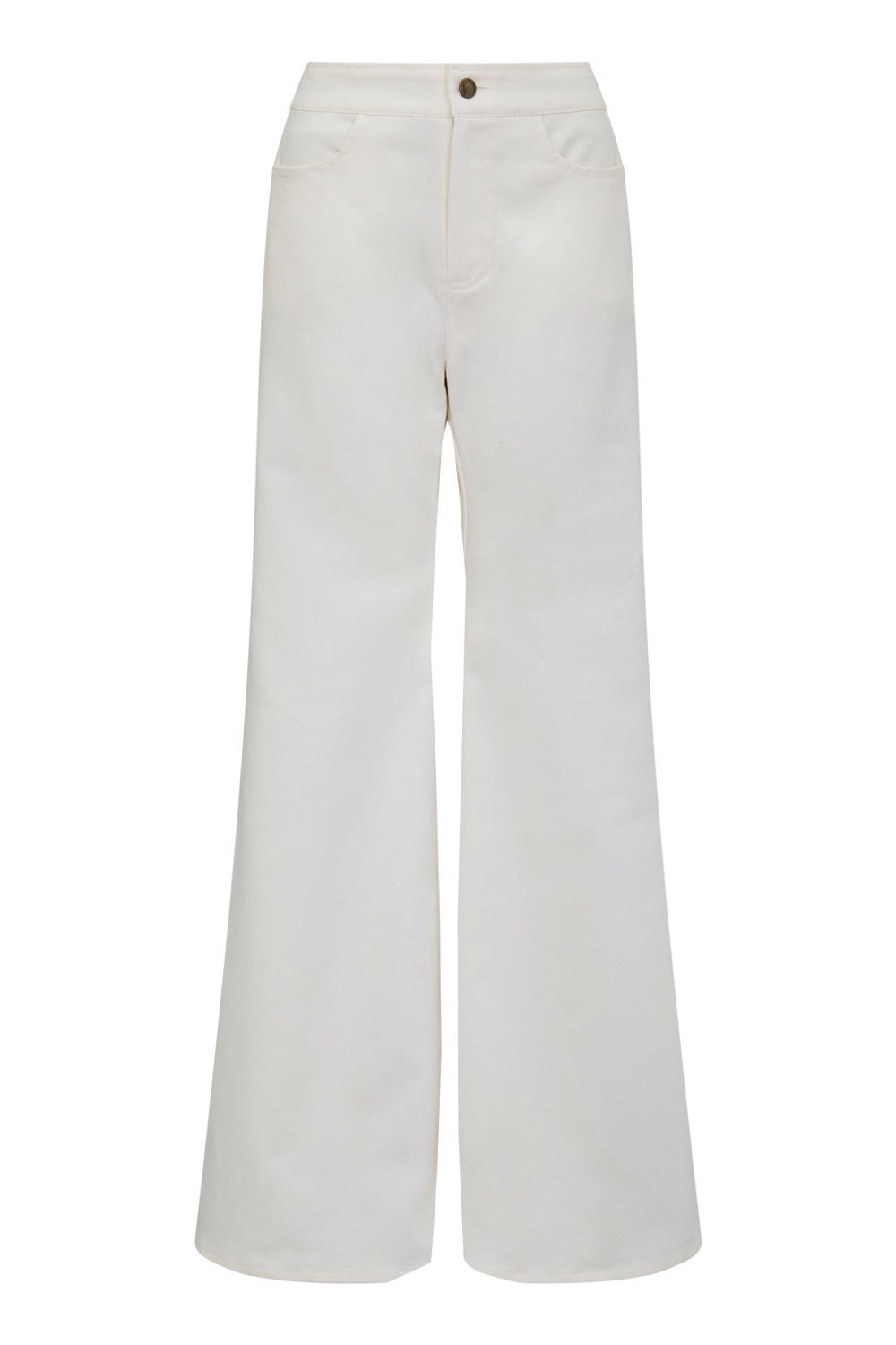 HUMBUG WIDE LEG JEANS - CREAM