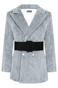HYDRA BLAZER - DUSKY BLUE WITH BLACK BELT