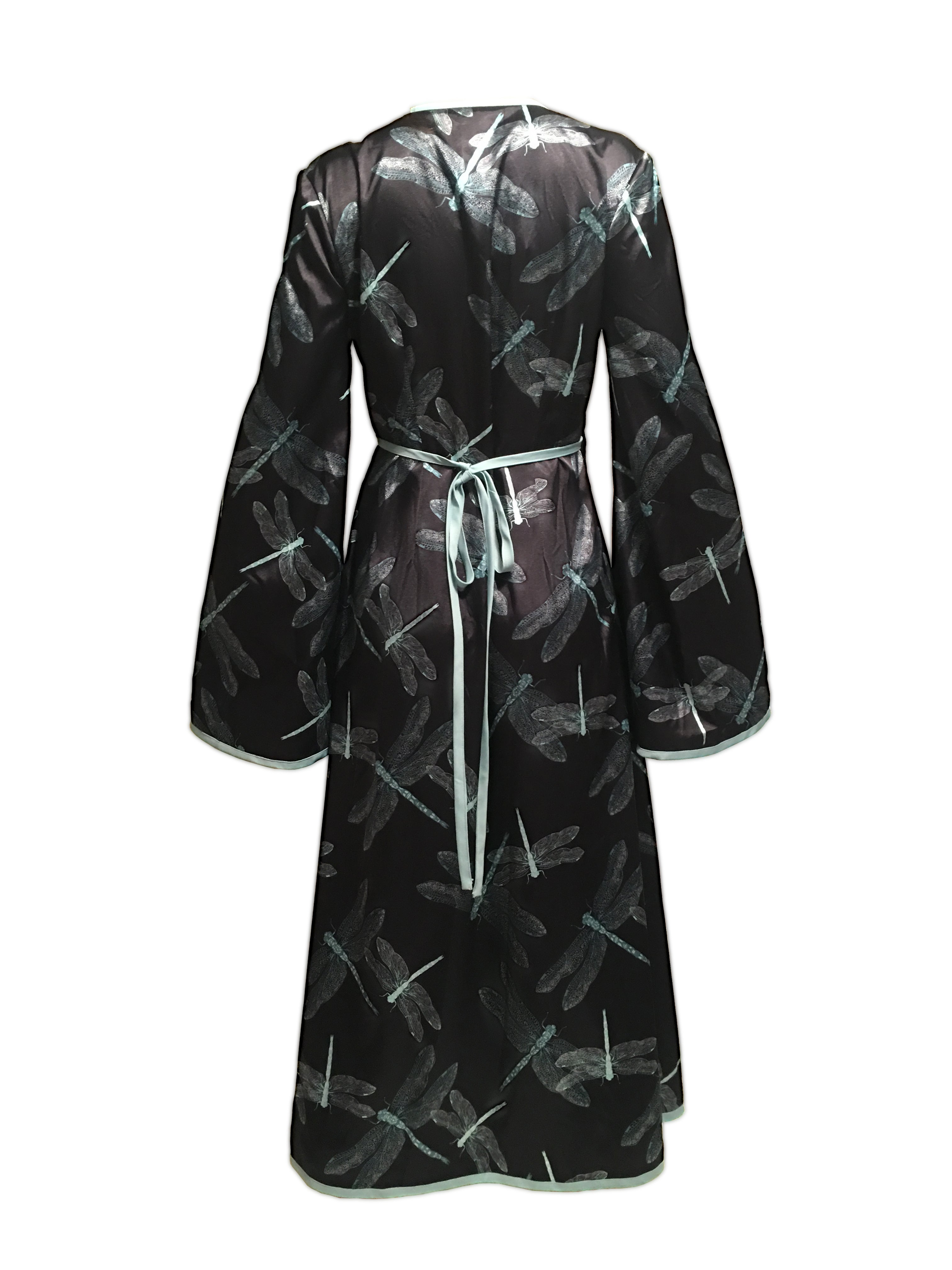 DAMSELFLY WRAP DRESS - BLACK - SAMPLE