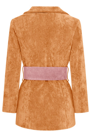 HYDRA BLAZER - ORANGE WITH PINK BELT