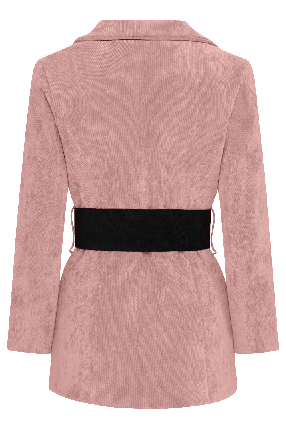 HYDRA BLAZER - DUSKY PINK WITH BLACK BELT