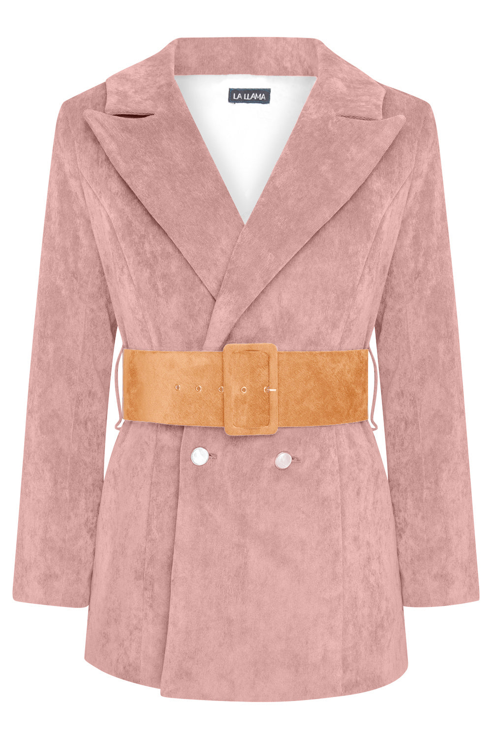 HYDRA BLAZER - DUSKY PINK WITH ORANGE BELT