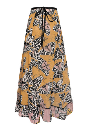 TIGER MOTH FRILL WRAP SKIRT