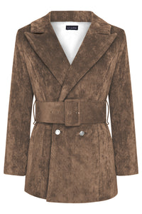 LUNA BLAZER - CHOCOLATE BROWN