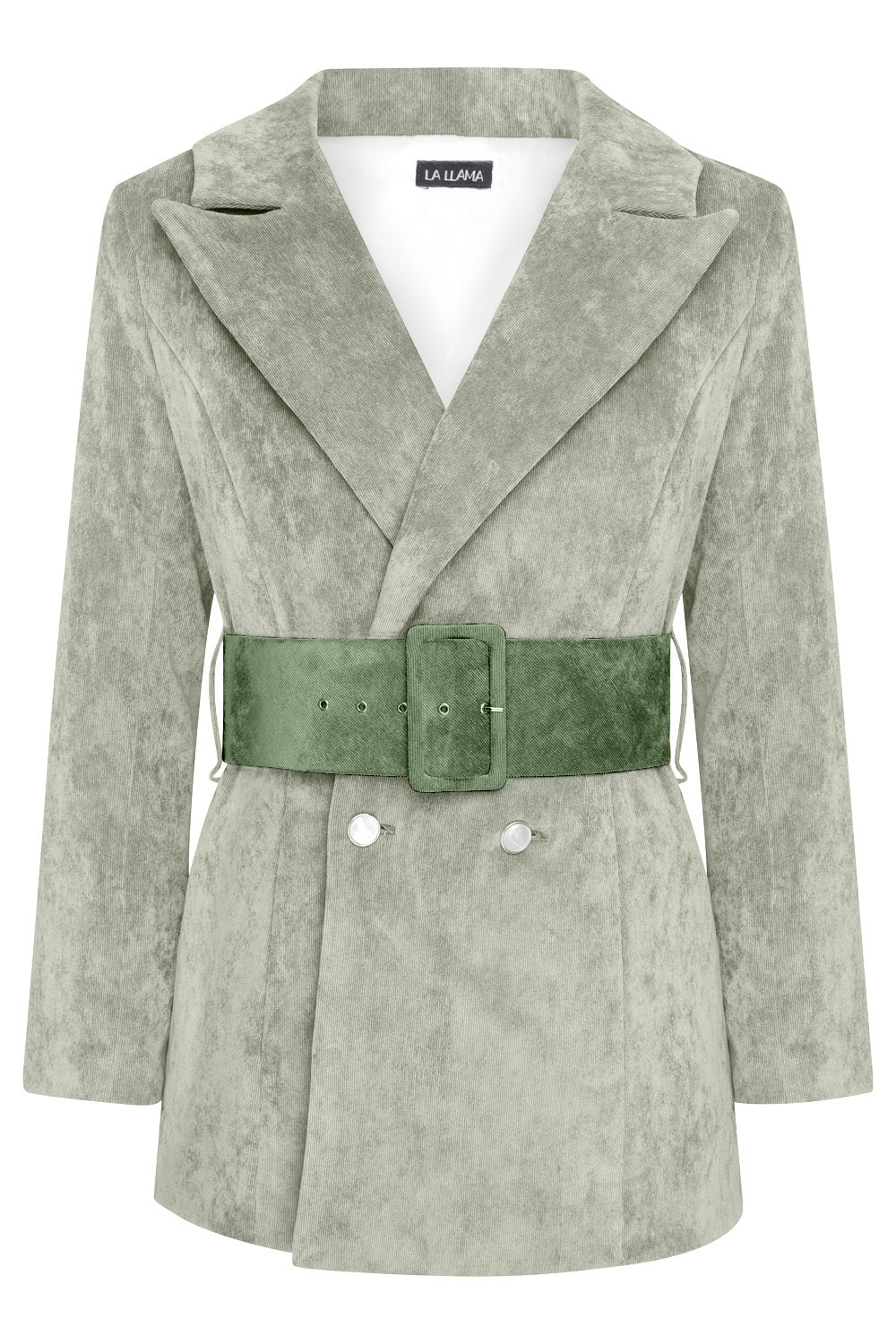 HYDRA BLAZER -  LIGHT GREEN WITH DARK GREEN BELT