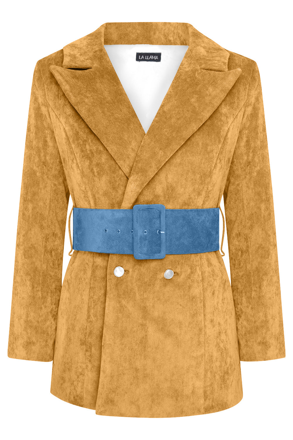 HYDRA BLAZER -  MUSTARD WITH PETROL BELT