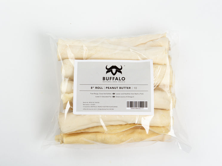 "Buffalo 8"" Roll Peanut Butter (10)"