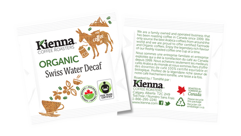 Kienna Pods Fair Trade Organic Swiss Water Decaf