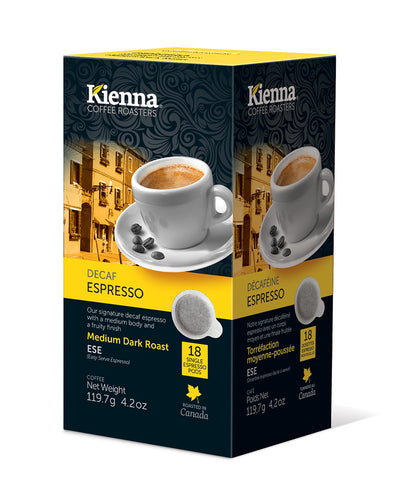 Kienna Coffee - Decaf Espresso (ESE pods)