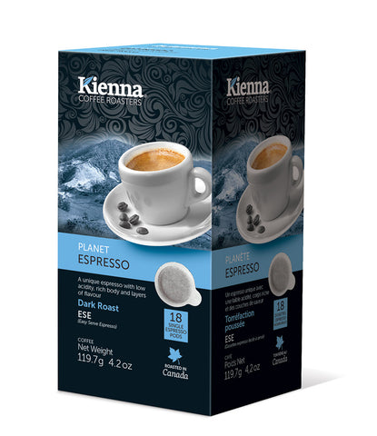 Kienna Coffee - Planet Espresso (ESE pods)