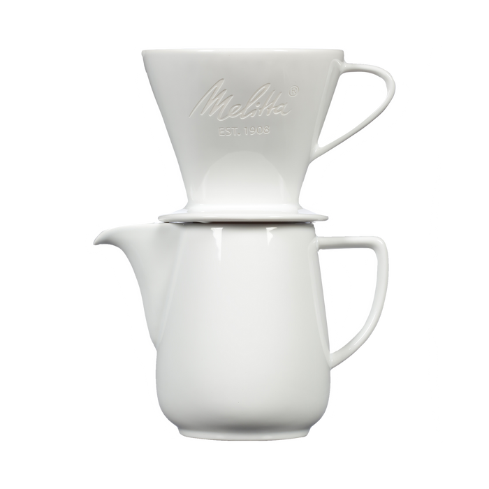 Heritage Series Pour-Over™ Coffeemaker, Porcelain Brew & Serve Carafe Set (20oz) - White