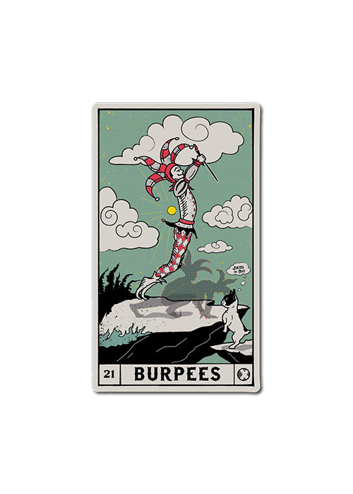 'BURPEES - Tarot Card' - Sticker