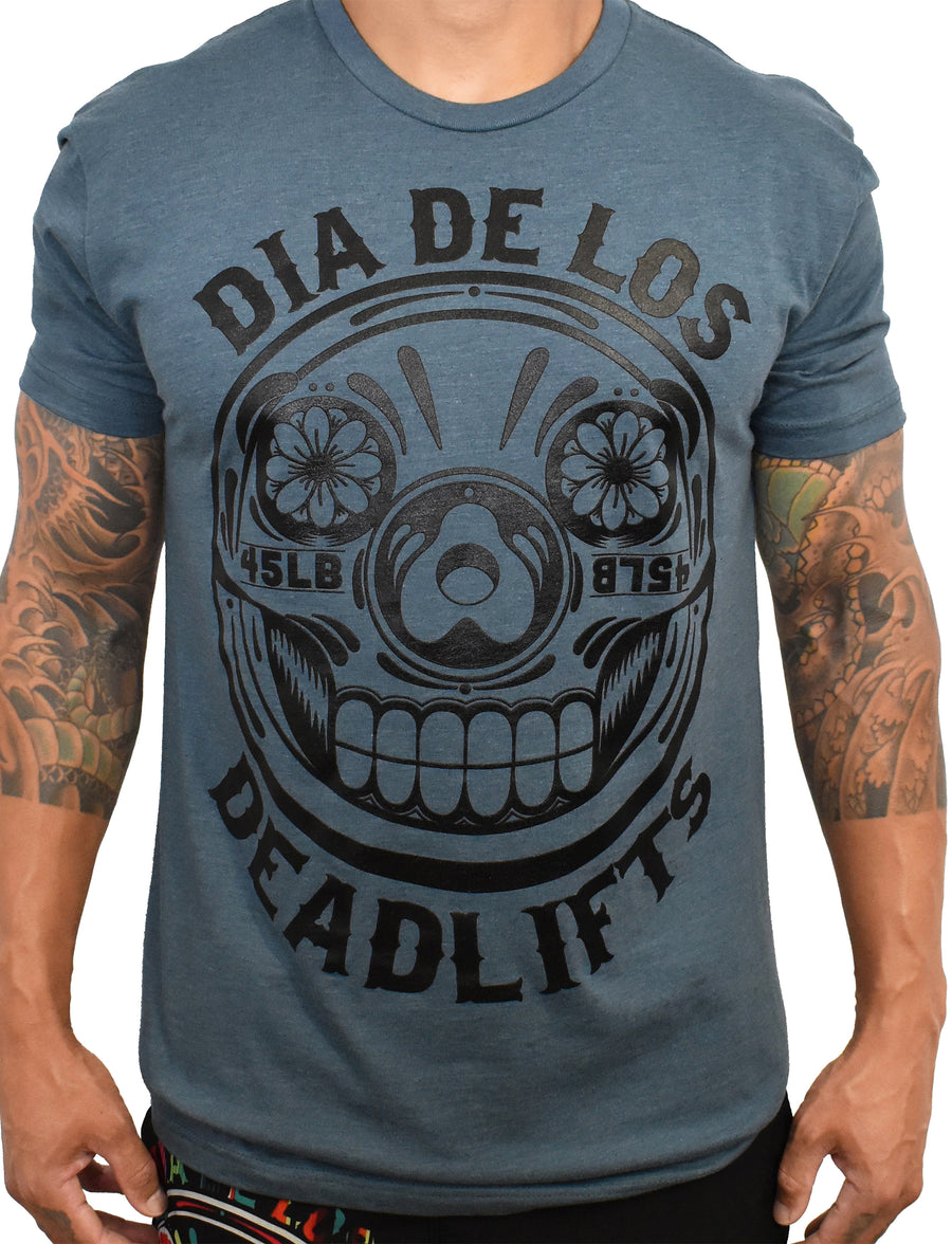 Men's 'Dia de los Deadlifts' Tee - Marine