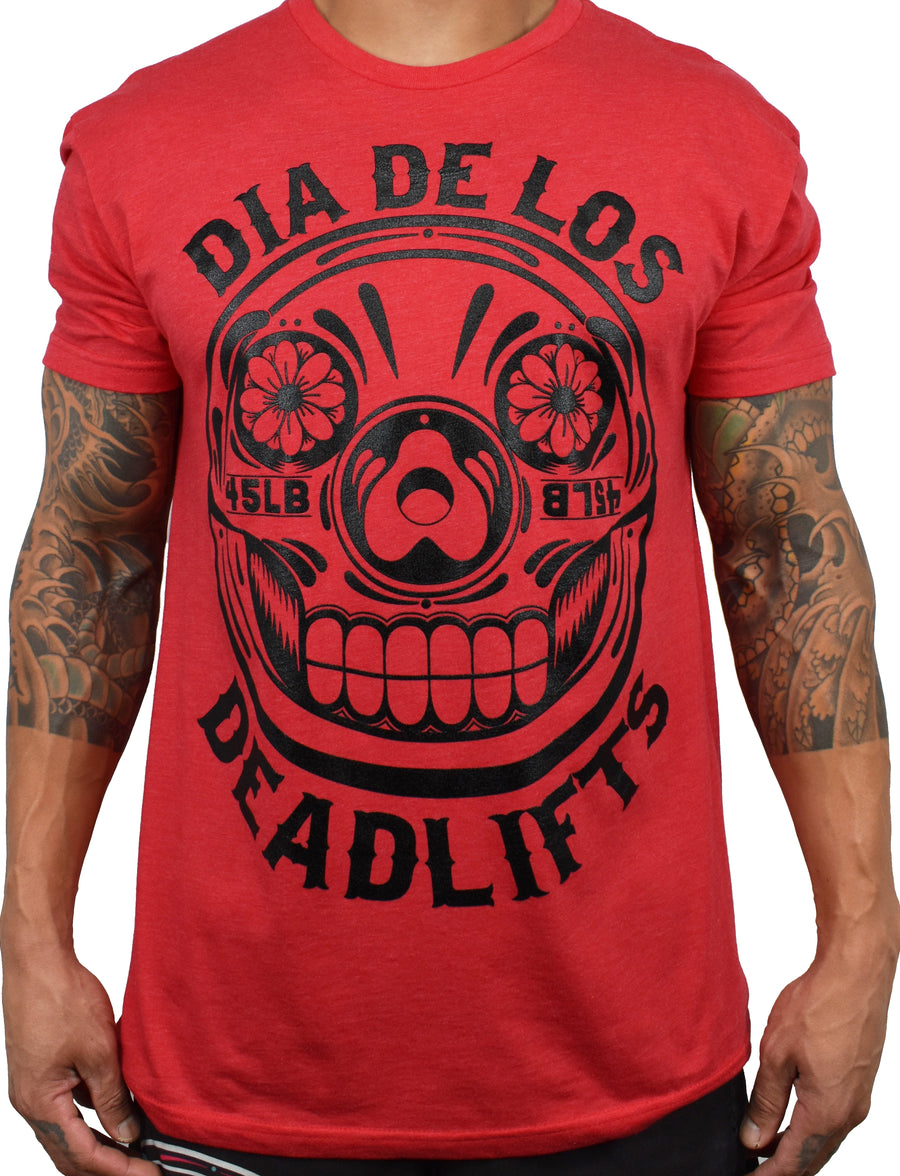 Men's 'Dia de los Deadlifts' Tee - Red