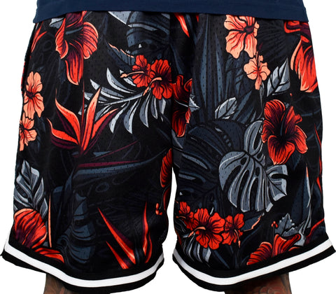 Men's 'Firebiscus' Hoop Shorts