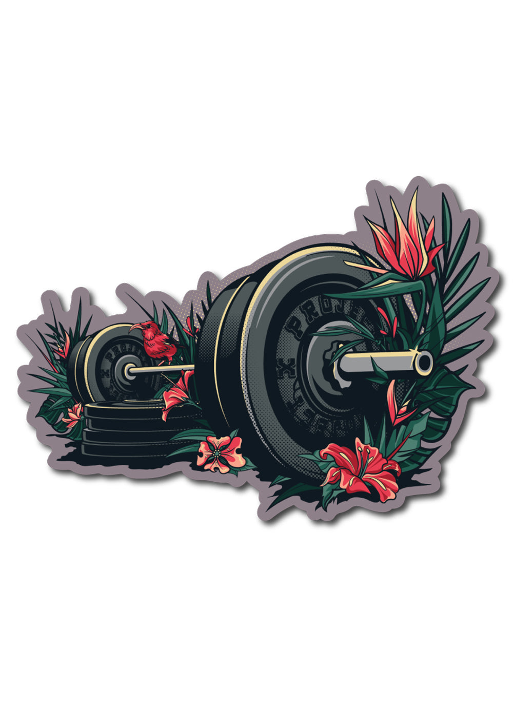 'Flora. Fauna. Fitness.' Sticker