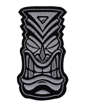 Embroidered Tiki' Patch - Grey