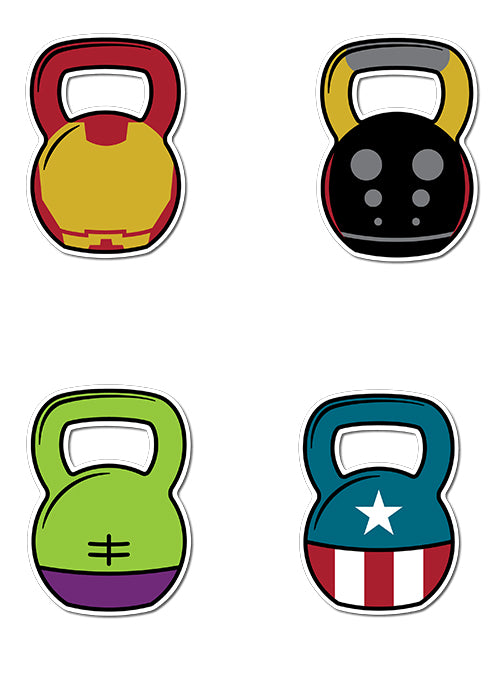 'KB's Assemble!'  Sticker - 4 Pack