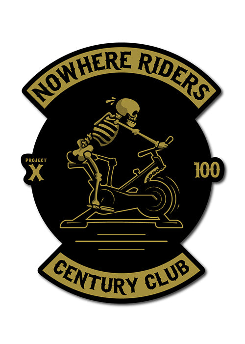 'Nowhere Riders - Century Club' Sticker