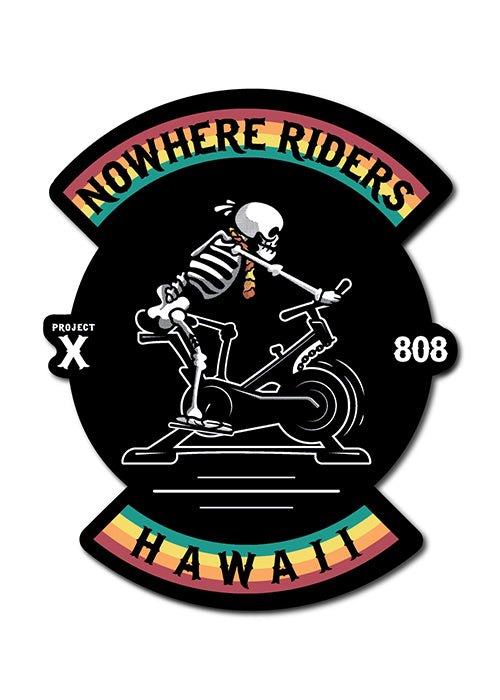 'Nowhere Riders - Hawaii Chapter' Sticker