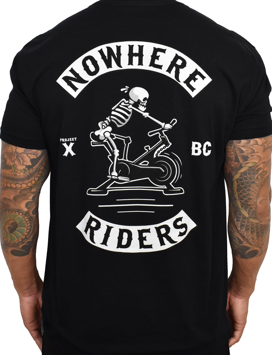 Men's 'Nowhere Riders' Tee - Black