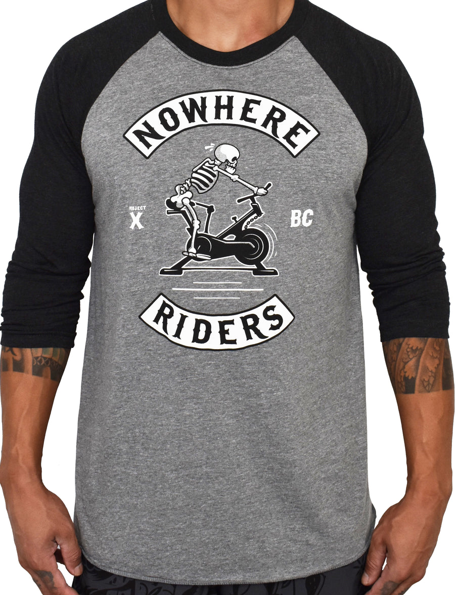 'Nowhere Riders' 3/4 RAGLAN