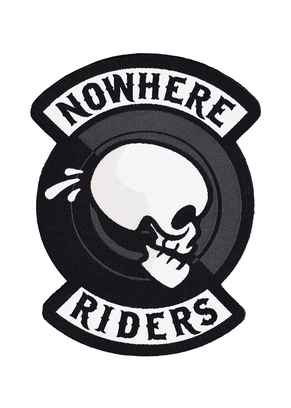 Woven 'Nowhere Riders' Skull Velcro Patch