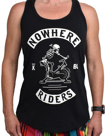 Women's 'Nowhere Riders' Racerback Tank - Black