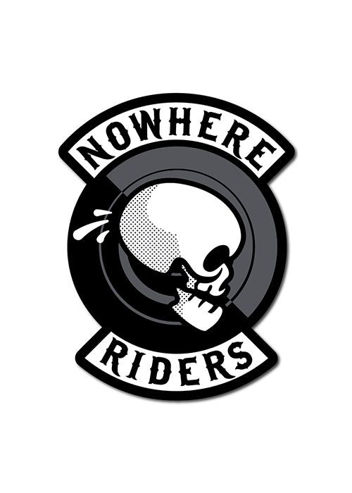'Nowhere Riders' Skull Sticker