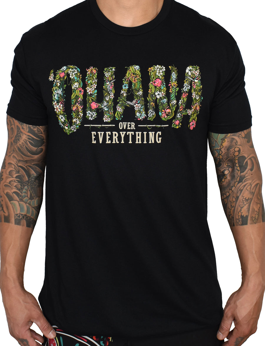 Men's 'Ohana Over Everything' Tee - Black