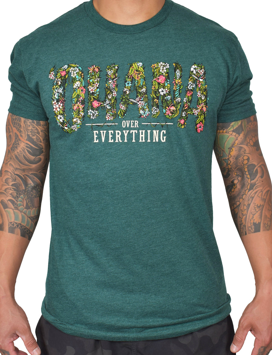 Men's 'Ohana Over Everything' Ultra Tee - Green