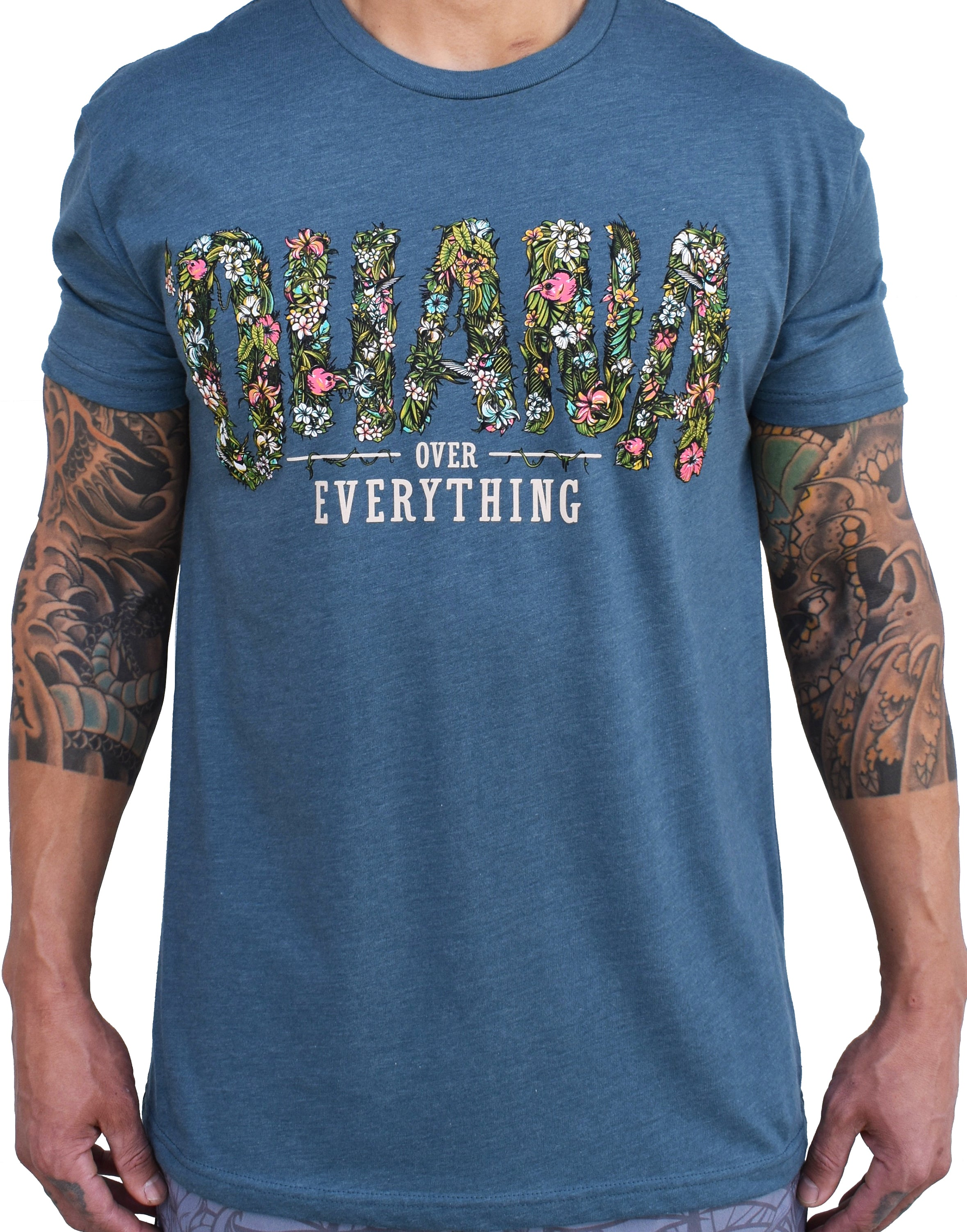 Men's 'Ohana Over Everything' Tee - Marine